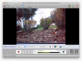 Mit Debut für Mac Video vom Bildschirm aufnehmen, von Webcam oder Videogeräten.