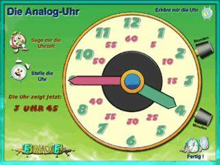 Lernspiel zum Lernen wie man die Uhr liest