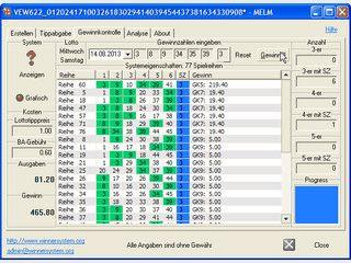 Benutzerfreundliche Gewinnkontrolle für alle Lotterien, Lottosystemanalyse