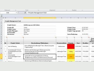 Projektmanagment-Tool für MS Excel zur Aufgabenverteilung und -Kontrolle