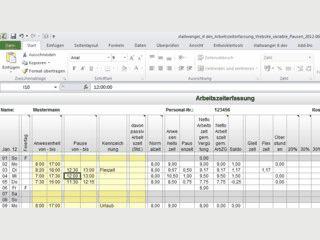 Arbeitszeiterfassung und Arbeitszeitnachweis für Arbeitnehmer, Arbeitgeber mit P