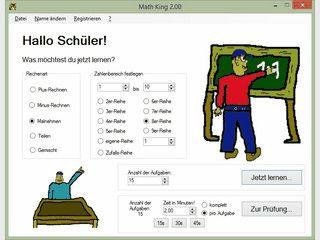 Mathelernsoftware für alle Grundrechenarten, kleines und großes Einmaleins