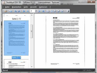 TIFF-Multipage, Mulitframe-Betrachter mit zusätzlichen Funktionen.