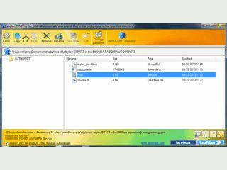 Datei-Tresor mit automatischer Hintergrundverschlüsselung
