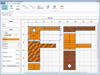 Grafische Planung von beliebigen Grundflächen inkl. Zuschnittoptimierung