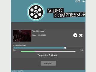 Schnelle und Einfache Kompression von Videos aller gängigen Formate.
