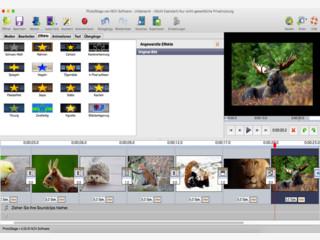 Erstellen Sie auf Ihrem Mac Diashows mit Videoclips, Musik und Kommentaren