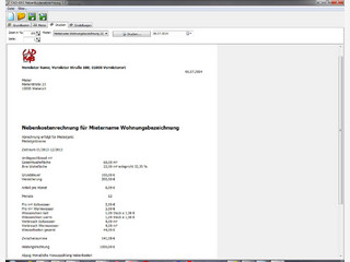 Software für Vermieter zur Erstellung der Nebenkostenabrechnung.