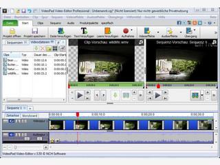 VideoPad Masters Edition Videobearbeitungsprogramm. Filme und Videos schneiden.