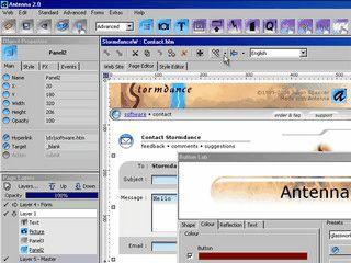 WYSIWYG Website Editor mit Layertechnik und voller CSS Unterstützung.