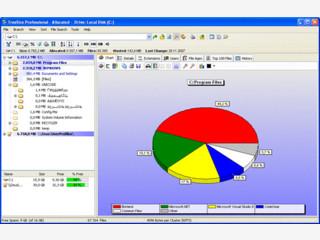 Manager für den Plattenplatz mit Export und Dateisuche.