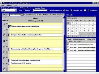 Übersichtlicher, leicht zu bedienender Terminplaner mit vielen Zusatzfunktionen.
