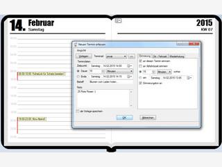 Terminverwaltung mit weiteren Funktionen wie z.B. einer Einkaufsliste.