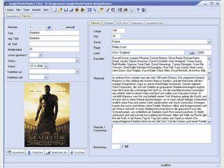 Filmverwaltung für Filme im Format DivX und S VCD