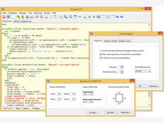 Scripter ist ein sehr schneller und kompakter Texteditor für Windows.