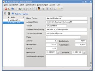 Software für Vermieter zur Abrechnung von Nebenkosten usw.