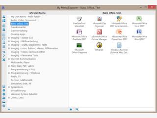 Eigenes Startmenü erstellen mit My Menu Explorer alternatives Windows Startmenü