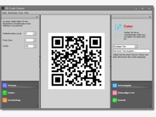 Erstellen Sie Ihre eigenen QR-Codes, sogar in Farbe und div. Größen.