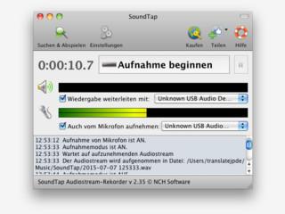 Auf Mac OS X Audio-Stream in WAV oder MP3 aufnehmen.