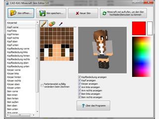 Skin-Editor für Microsoft Minecraft zum Erstellen und Bearbeiten von Skins.