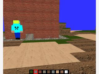 3D Spiel im Stile von Minecraft mit 2-Spieler-Modus.