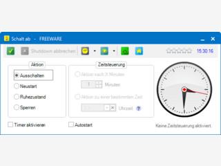 Zeitgesteuertes Abschalten, Neustarten oder Sperren  des PCs.