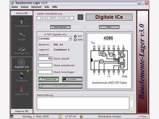 Bauelemente-Verwaltungs für Elektroniker