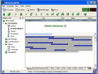 Download-Manager mit integriertem FTP Browser und Shoutcast Aufnahme