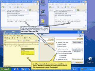 Rechtschreibkorrektur in allen Windowsanwendungen während der Eingabe.