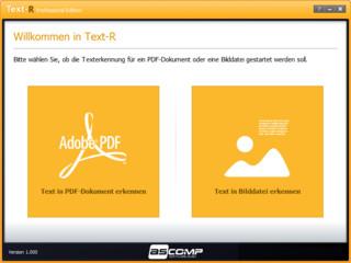 Schnell und einfach Text in PDF-Dateien und Bildern erkennen.