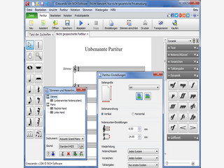 Mit Crescendo Plus in Windows Noten schreiben und abspielen.