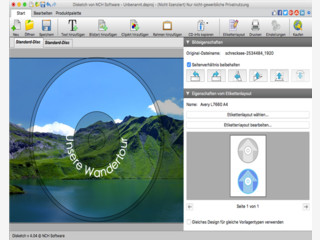 Mit der Disketch Disc-Beschriftungssoftware für Mac CD-Label drucken.