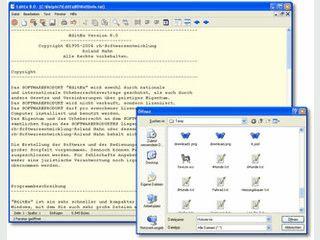 Schneller und kompakter Texteditor für Windows.