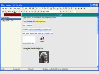 Software zur Speicherung beliebige Texte