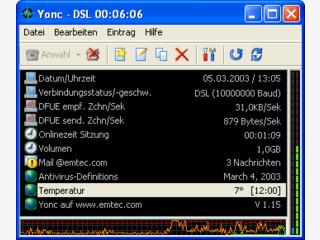 DFÜ Netzwerk Tool zur Anwahl mit Protokollierung und Email-Check.