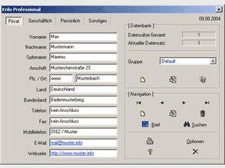 Blitzschnelle Adressdatenbank mit vielen Funktionen