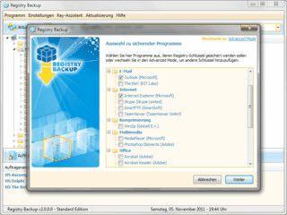 Software zur automatischen Sicherung von Registry-Keys.