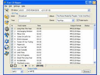 CD Ripper mit CDDB Support. Speicherung als WMA, MP3 und OGG Datei