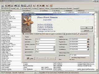 Adressverwaltung mit 2 Adressen pro Kontakt, Terminplaner, Anrufmonitor,...