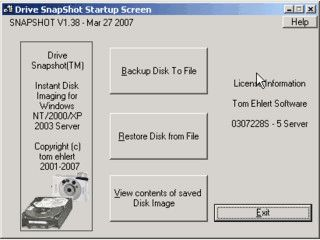 Disk Image Backup für Windows NT/2000/XP