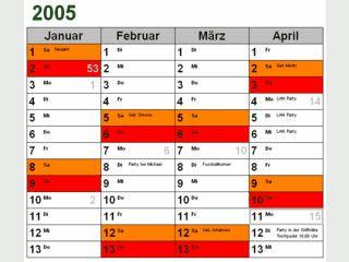 Kalender mit Terminen erstellen und ausdrucken