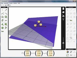 Visualisierung und Berechnung von Problemen der Analytischen Geometrie