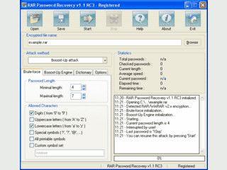 BruteForce Passwort Recovery für passwortgeschützte RAR Archivdateien