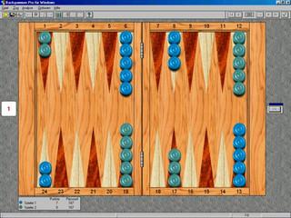 Sehr gutes professionelles Backgammon Spiel im typischen Backgammon-Kasten Look.