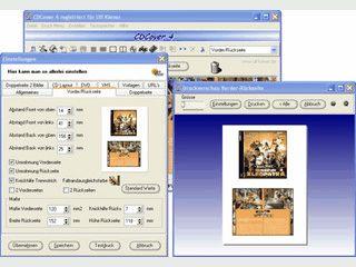 Einfach zubedienendes Coverdruckprogramm