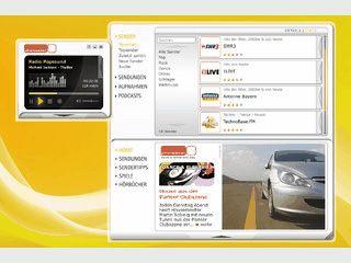Internetradioplayer mit Aufnahmefunktion für mehr als 6.000 Sender.