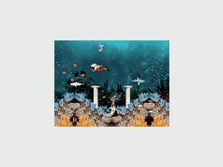 Tropische Fische, See-Igel, Wale usw. in einem herrlich animierten Aquarium