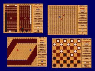 Brettspiele wie Backgammon, Reversi und Dame.