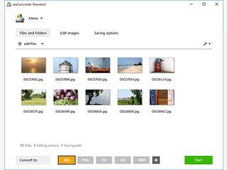 Konvertierung und Batch-Verarbeitung von Bildern.