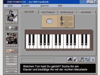 Gehörbildung über Melodie, Rhythmus, Intervalle und Akkorde